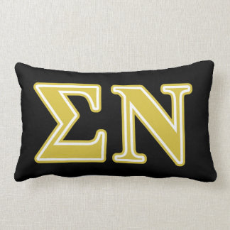 Sigma Nu Gold Letters Throw Pillows