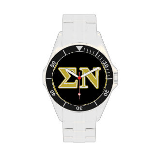 Sigma Nu Gold Letters Wristwatch