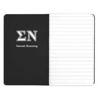 Sigma Nu White and Black Letters Journals
