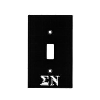 Sigma Nu White and Black Letters Switch Plate Cover