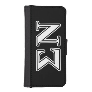 Sigma Nu White and Black Letters Phone Wallets