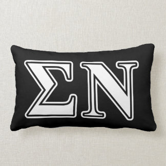 Sigma Nu White and Black Letters Throw Pillow