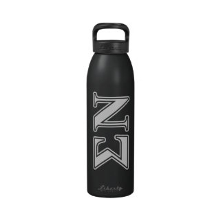 Sigma Nu White and Black Letters Reusable Water Bottles