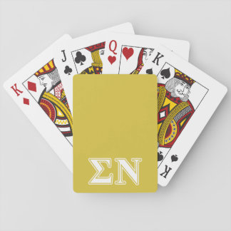 Sigma Nu White and Gold Letters Deck Of Cards