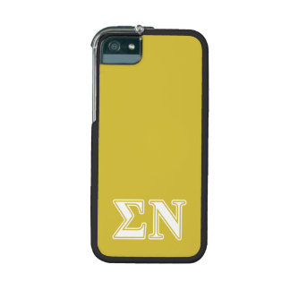 Sigma Nu White and Gold Letters iPhone 5 Cases
