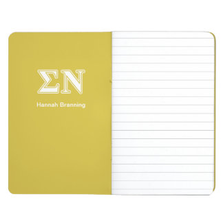 Sigma Nu White and Gold Letters Journals