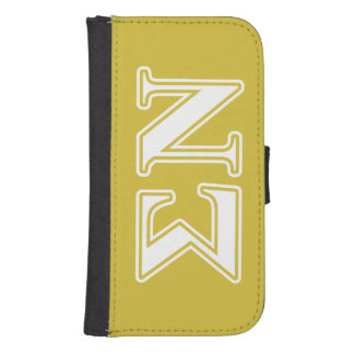 Sigma Nu White and Gold Letters Phone Wallet Case
