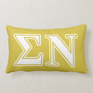 Sigma Nu White and Gold Letters Pillows