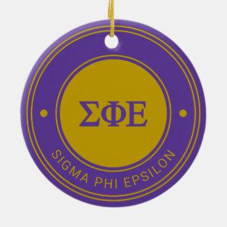 Sigma Phi Epsilon | Badge Ceramic Ornament