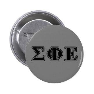 Sigma Phi Epsilon Black Letters 2 Inch Round Button