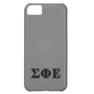 Sigma Phi Epsilon Black Letters iPhone 5C Covers