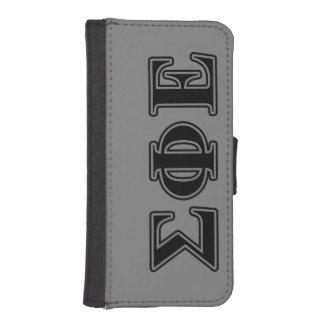Sigma Phi Epsilon Black Letters Phone Wallet Cases