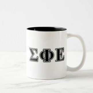 Sigma Phi Epsilon Black Letters Two-Tone Coffee Mug