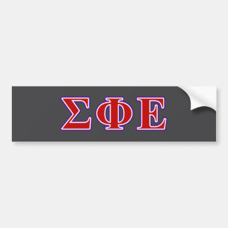 Sigma Phi Epsilon Purple and Red Letters Car Bumper Sticker