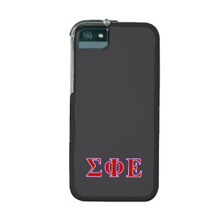 Sigma Phi Epsilon Purple and Red Letters iPhone 5/5S Cases