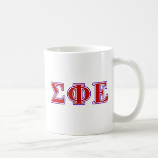 Sigma Phi Epsilon Purple and Red Letters Coffee Mug