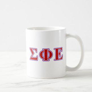 Sigma Phi Epsilon Purple and Red Letters Coffee Mug
