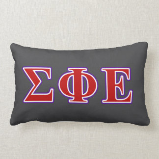 Sigma Phi Epsilon Purple and Red Letters Lumbar Pillow