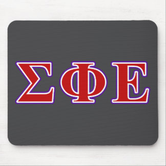 Sigma Phi Epsilon Purple and Red Letters Mouse Pad