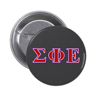 Sigma Phi Epsilon Purple and Red Letters Pinback Button