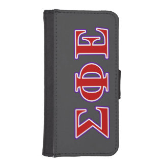 Sigma Phi Epsilon Purple and Red Letters iPhone 5 Wallet Cases