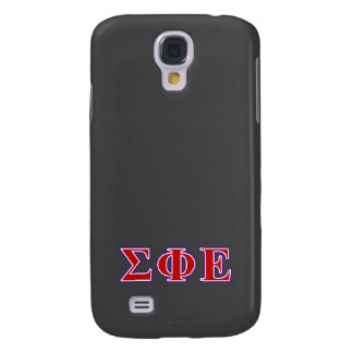 Sigma Phi Epsilon Purple and Red Letters Samsung Galaxy S4 Cover
