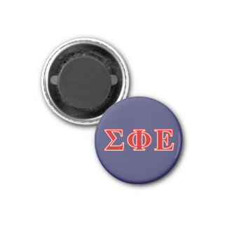 Sigma Phi Epsilon Red Letters 1 Inch Round Magnet