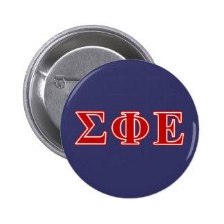 Sigma Phi Epsilon Red Letters 2 Inch Round Button