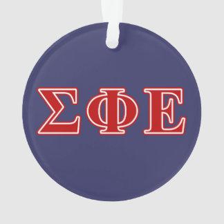 Sigma Phi Epsilon Red Letters