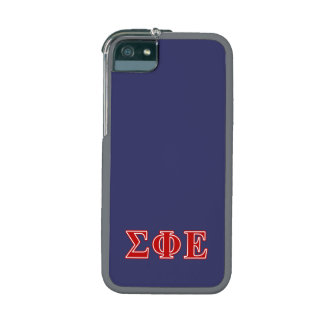 Sigma Phi Epsilon Red Letters iPhone 5 Cover