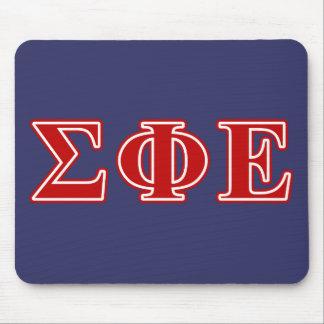 Sigma Phi Epsilon Red Letters Mouse Pad