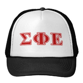 Sigma Phi Epsilon Red Letters Trucker Hat