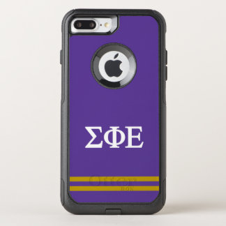 Sigma Phi Epsilon | Sport Stripe OtterBox Commuter iPhone 8 Plus/7 Plus Case