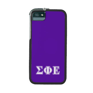 Sigma Phi Epsilon White and Purple Letters iPhone 5/5S Case