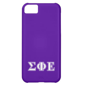 Sigma Phi Epsilon White and Purple Letters Cover For iPhone 5C