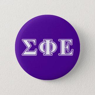 Sigma Phi Epsilon White and Purple Letters Pinback Button