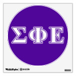 Sigma Phi Epsilon White and Purple Letters Wall Stickers