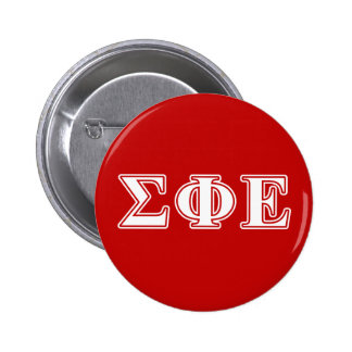 Sigma Phi Epsilon White and Red Letters 2 Inch Round Button