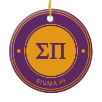 Sigma Pi | Badge Ceramic Ornament