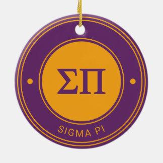 Sigma Pi | Badge Ceramic Ornament