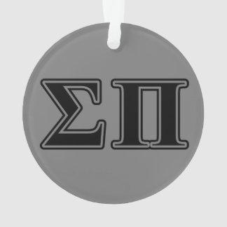 Sigma Pi Black Letters