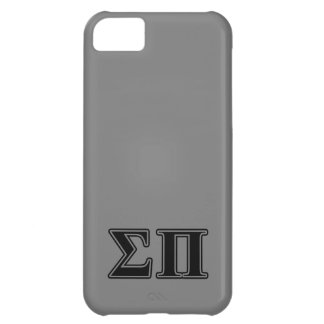 Sigma Pi Black Letters iPhone 5C Cover