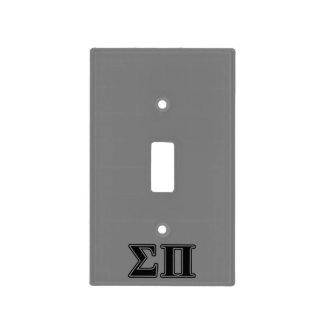 Sigma Pi Black Letters Light Switch Plates