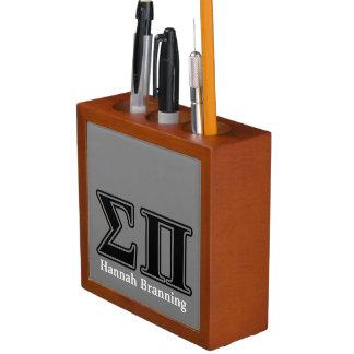 Sigma Pi Black Letters Pencil/Pen Holder