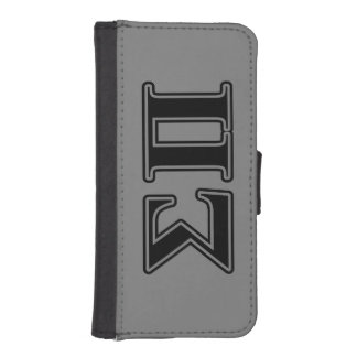 Sigma Pi Black Letters Phone Wallet Cases