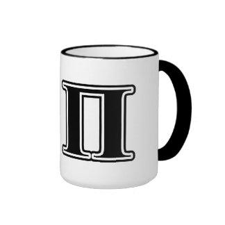 Sigma Pi Black Letters Ringer Mug