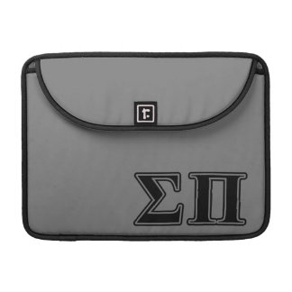 Sigma Pi Black Letters Sleeve For MacBooks