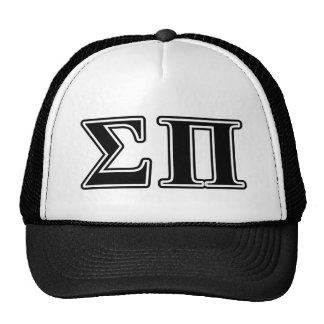 Sigma Pi Black Letters Trucker Hat