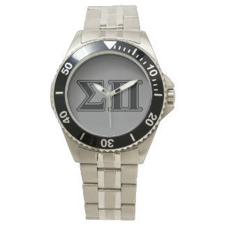 Sigma Pi Black Letters Watch