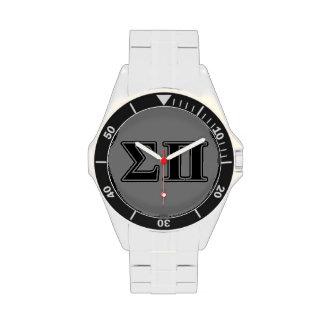 Sigma Pi Black Letters Wristwatch